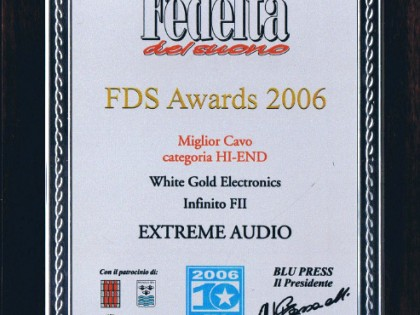 White Gold INFINITO FII, FDS Awards 2006