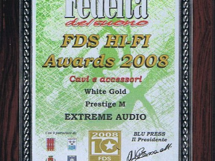 White Gold – Prestige M (Cables) FDS Awards 2008