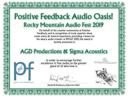 Positive Feedback Audio Oasis 2019